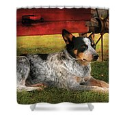 Animal - Dog - Always Faithful Shower Curtain by Mike Savad