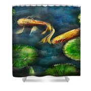 Animal - Fish - The Shy Fish  Shower Curtain by Mike Savad