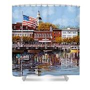 Annapolis Shower Curtain by Guido Borelli