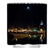 Annapolis Maryland Panorama Shower Curtain by Benjamin Reed