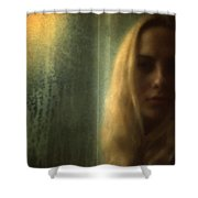 Another Face In A Window II Shower Curtain by Taylan Soyturk