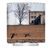 Another Time Shower Curtain by Skip Willits