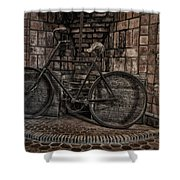 Antique Bicycle Shower Curtain by Susan Candelario