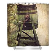 Antique Butter Churn Shower Curtain by Linsey Williams