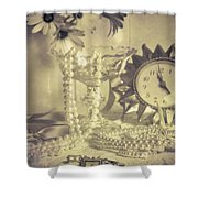 Antique Dressing Table Shower Curtain by Amanda Elwell
