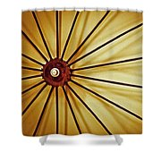 Antique Farm Wheel Shower Curtain by Carolyn Marshall