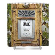 Antique Gas Pump Shower Curtain by Peter French
