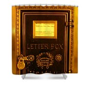 Antique Letter Box At The Brown Palace Hotel Shower Curtain by John Malone
