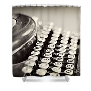 Antique typewriter Shower Curtain by Ivy Ho