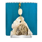 Aphrodite Earring Shower Curtain by Augusta Stylianou