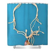 Aphrodite Pandemos Necklace Shower Curtain by Augusta Stylianou