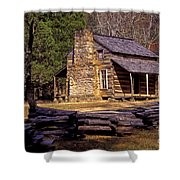 Appalachian Homestead Shower Curtain by Paul W Faust -  Impressions of Light