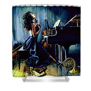 Appassionato Shower Curtain by Hanne Lore Koehler