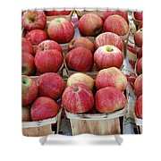 Apples In Small Baskets Shower Curtain by Paul Velgos