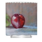 Apples Shower Curtain by Nancy Stutes