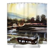 Approaching Dusk II Shower Curtain by Kip DeVore