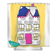 April Showers House Shower Curtain by Linda Woods