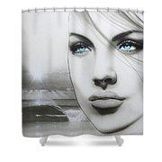 'aqua Marine' Shower Curtain by Christian Chapman Art