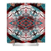 Aquatic Lace 5 Shower Curtain by Shawna  Rowe