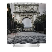 Arch Of Titus Morning Glow Shower Curtain by Joan Carroll