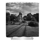 Architectural Treasure Bw Shower Curtain by Susan Candelario