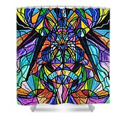 Arcturian Awakening Grid Shower Curtain by Teal Eye  Print Store