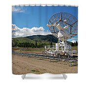 Are You Receiving Me Major Tom Shower Curtain by Trever Miller