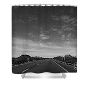 Arizona Highway 70 West Shower Curtain by Methune Hively