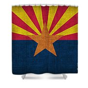 Arizona state flag Shower Curtain by Pixel Chimp