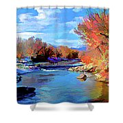 Arkansas River In Salida Co Shower Curtain by Charles Muhle