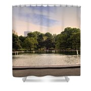 Around the Central Park Pond Shower Curtain by Madeline Ellis