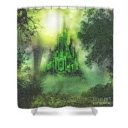 Arrival To Oz Shower Curtain by Mo T