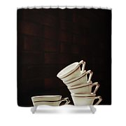 Art Deco Teacups Shower Curtain by Amanda And Christopher Elwell