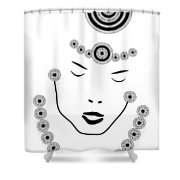 Art Nouveau Portrait Shower Curtain by Frank Tschakert