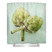 Artichokes Shower Curtain by Priska Wettstein