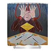 Artist Block Shower Curtain by Michele Myers