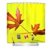 Artist De Imagination Little People Big Worlds Shower Curtain by Paul Ge