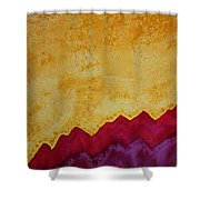 Ascension Original Painting Shower Curtain by Sol Luckman