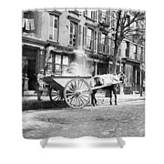 Ash Cart New York City 1896 Shower Curtain by Unknown