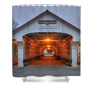 Ashuelot Covered Bridge Shower Curtain by Joann Vitali