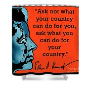 Ask Not What Your Country... Shower Curtain by Scarebaby Design