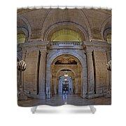 Astor Hall Shower Curtain by Susan Candelario