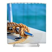 At Sea Shower Curtain by Laura Fasulo