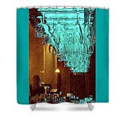 At The Bar Shower Curtain by Ben and Raisa Gertsberg