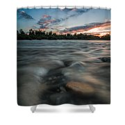 At The End Of The Day Shower Curtain by Davorin Mance