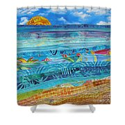 At The Water's Edge Shower Curtain by Susan Rienzo