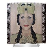 Athena Shower Curtain by Lynet McDonald