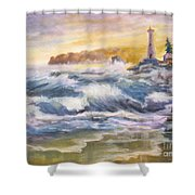 Atlantic Agitation Shower Curtain by Mohamed Hirji