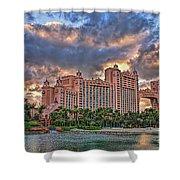 Atlantis Shower Curtain by Olga Hamilton