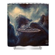 Atmospheric Arrival Shower Curtain by Murphy Elliott